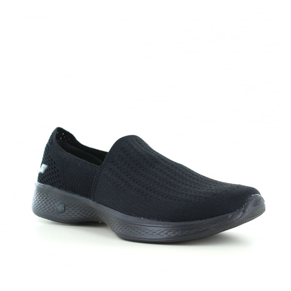 51dfc8976954 Skechers Go Walk 4 Ravish Womens Slip-On Walking Shoes - Black