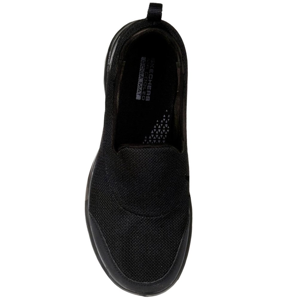 skechers go walk womens black