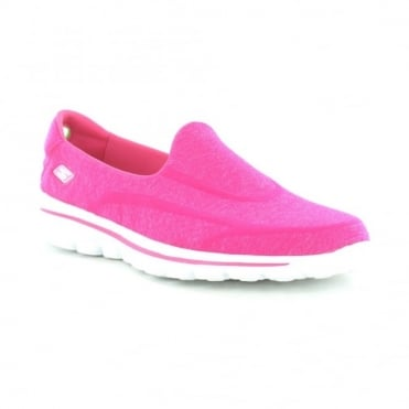 Skechers Go Walk 2 Womens Super Sock - Hot Pink
