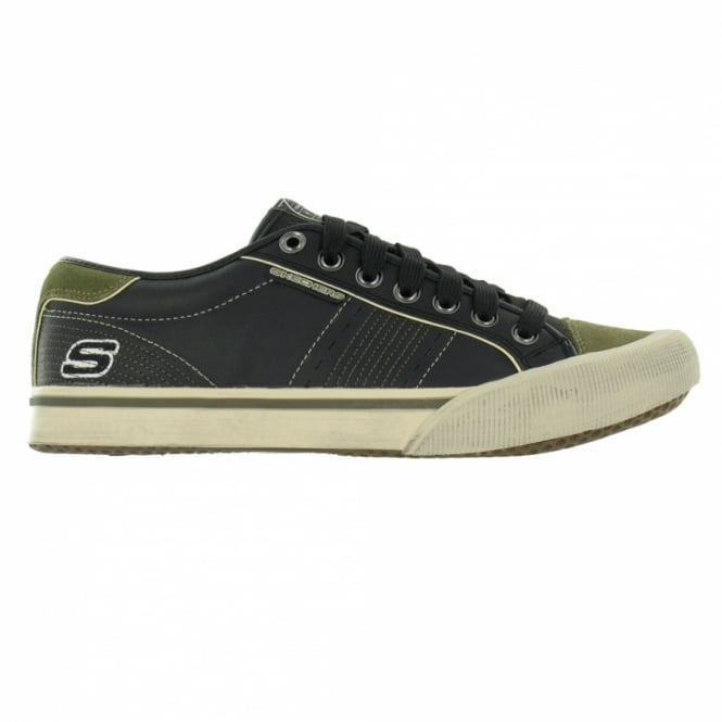 Skechers Strand Mens Leather Trainers