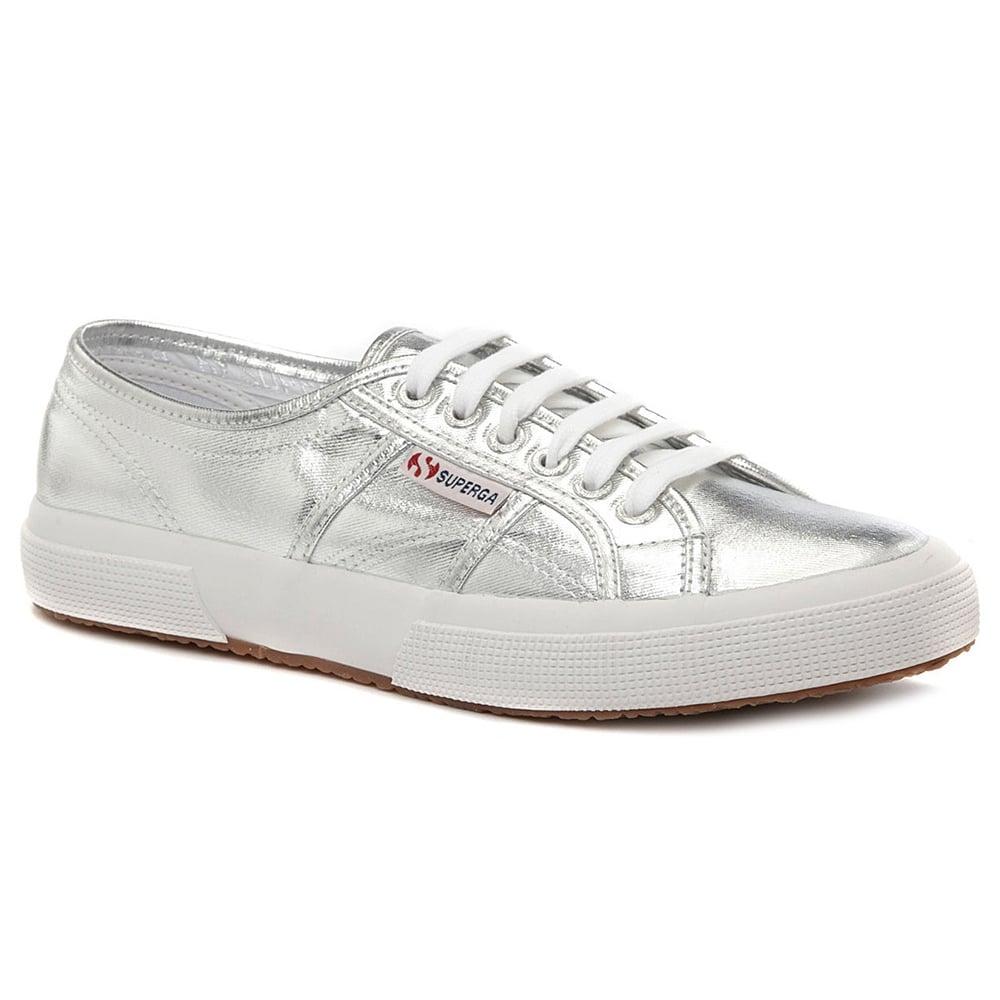 963f4c08686 Superga 2750 Cotmetu Womens Fashion Trainers - Grey Silver