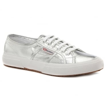Superga 2750 Cotmetu Womens Fashion Trainers - Grey Silver