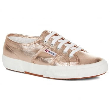 Superga 2750 Cotmetu Womens Fashion Trainers - Rose Gold