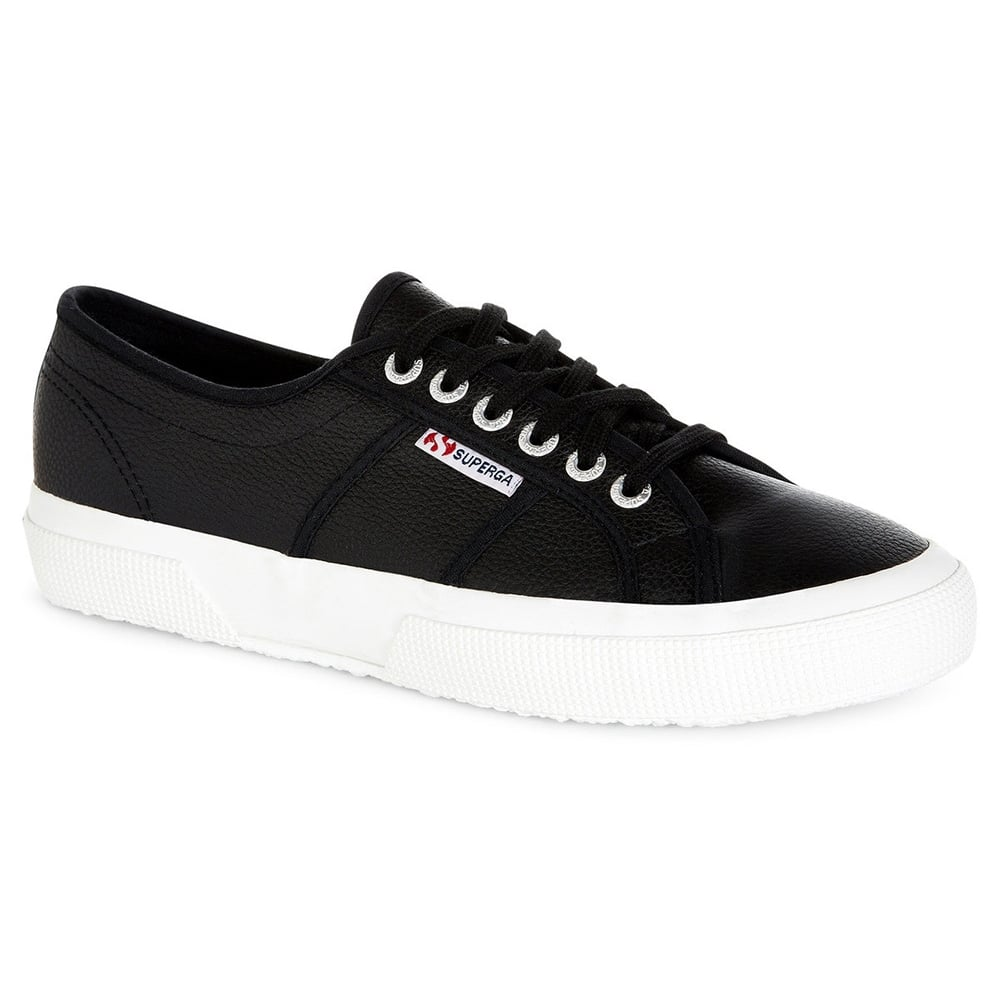 Superga 2750 Efglu Mens Leather Fashion Trainers - Black 5b60ec4b30e