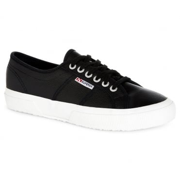 Superga 2750 Efglu Mens Leather Fashion Trainers - Black