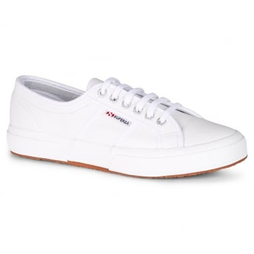 Superga 2750 Efglu Mens Leather Fashion Trainers - White