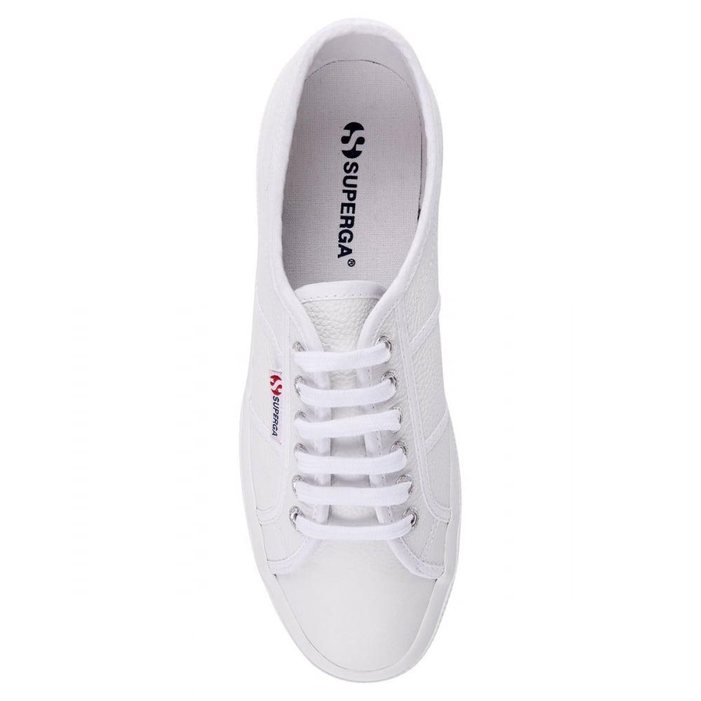 superga 2750 white leather best price