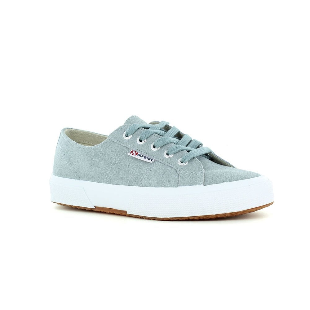 62c09483caf Superga Suede Womens Fashion Trainers - Light Grey