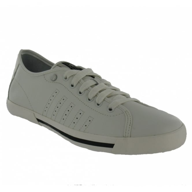 K-Swiss Skimmer Mens Leather Trainers - White + Black d9b0be440