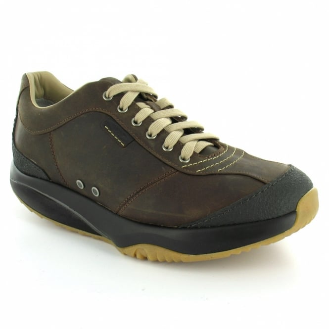 d1ff36eb111a MBT Tembea Mens Leather 6-Eyelet Trainers - Mink Brown - Sports ...