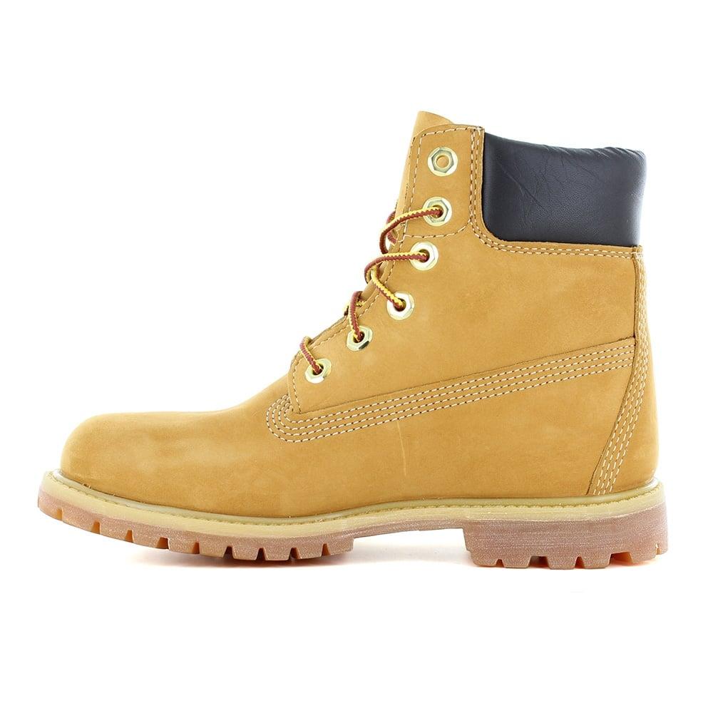 aliexpress najtańszy dostępny Timberland® 10061 Mens Padded Collar 7-Eyelet Nubuck Waterproof Boots -  Wheat Yellow