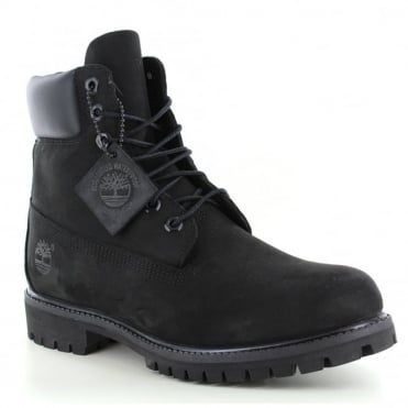 Timberland ® 10073 Mens Padded Collar 7-Eyelet Nubuck Waterproof Boots - Black