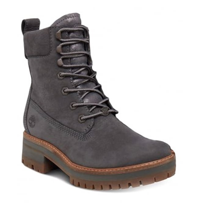 Timberland Courmayeur Valley A1KLV Womens Leather Lace Up Boots - Dark Grey
