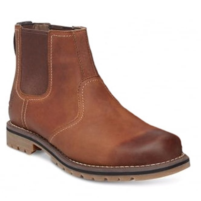 fda02d1ea174 Timberland Larchmont A13HZ Mens Leather Chelsea Boots - Brown