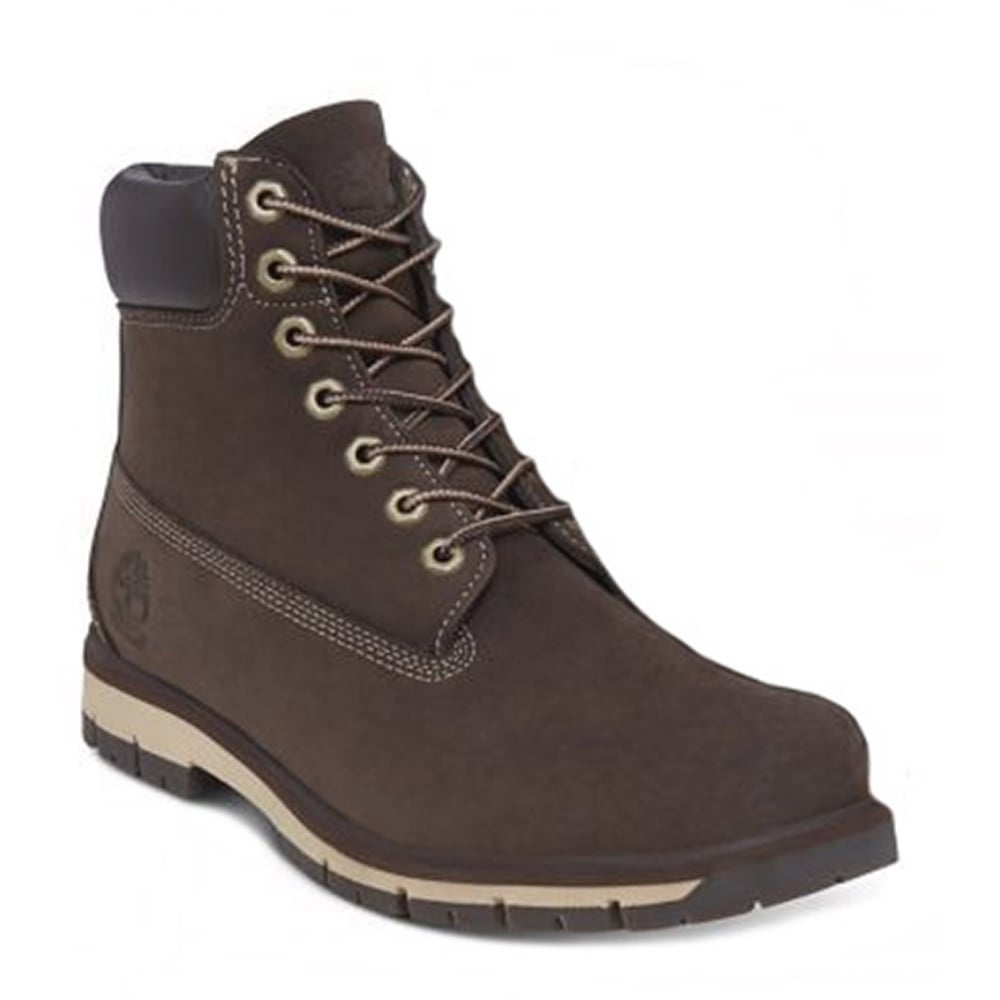 b7062810dce8 Timberland Radford A1JHQ Mens Padded Collar Waterproof Boots - Red Brown