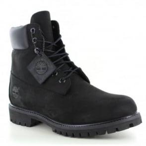 Timberland ® 10073 Mens Padded Collar 7-Eyelet Nubuck Waterproof Boots - Black