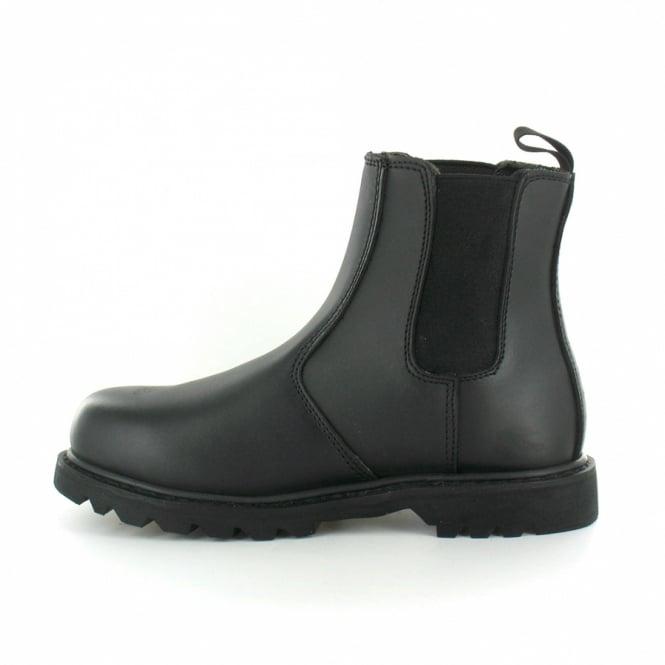 74ec9e8477d Diran Mens Steel Toe Cap Chelsea Boots - Black
