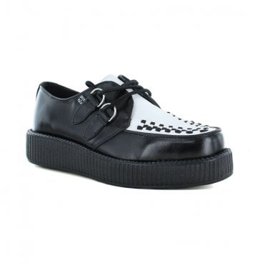 TUK A6807 Unisex Leather Viva Low Creeper - Black / White