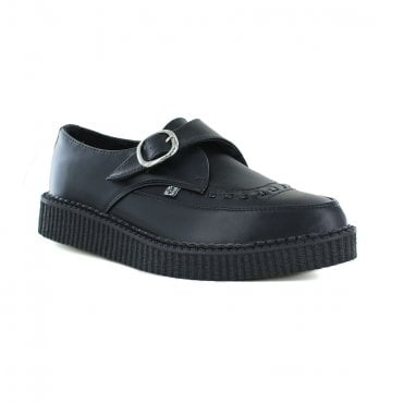 TUK A9324 Unisex Vegan Buckle Point Creeper Shoes - Black
