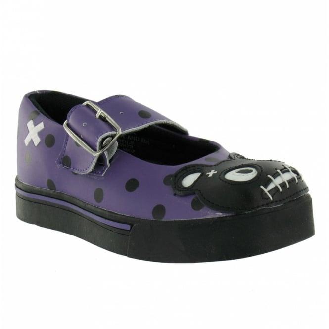 tuk t u k teddy shoes purple black flat shoes from
