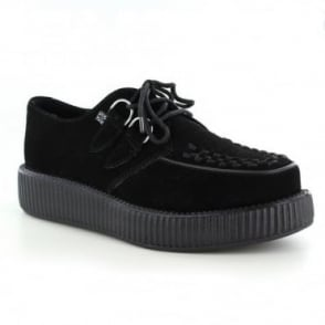 TUK V7270 Unisex Suede Leather Viva Creeper Shoes - Black
