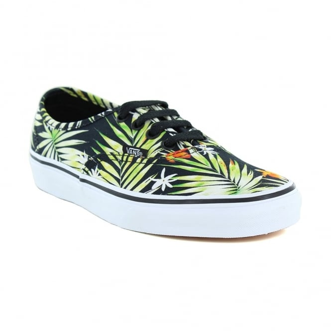 Vans Authentic VN0A38EMMLD Unisex Skate Shoes - Decay Palms Black