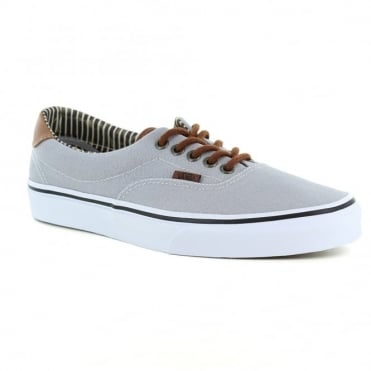 Vans Era 59 VN0003S4IA7 Mens Canvas Skate Shoes - Silver Sconce And Stripe Denim