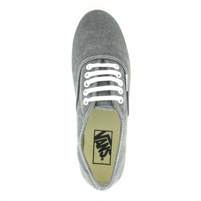 Vans Authentic Slim Womens Classic Skate Shoes (VN-0 QEV4JT) - Washed Black 78a235cb93