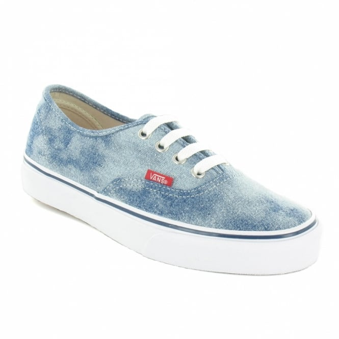 3e776e8f0e Vans Authentic VNJV5US Unisex Canvas 4-Eyelet Deck Shoes - Bleached Denim  Blue   White