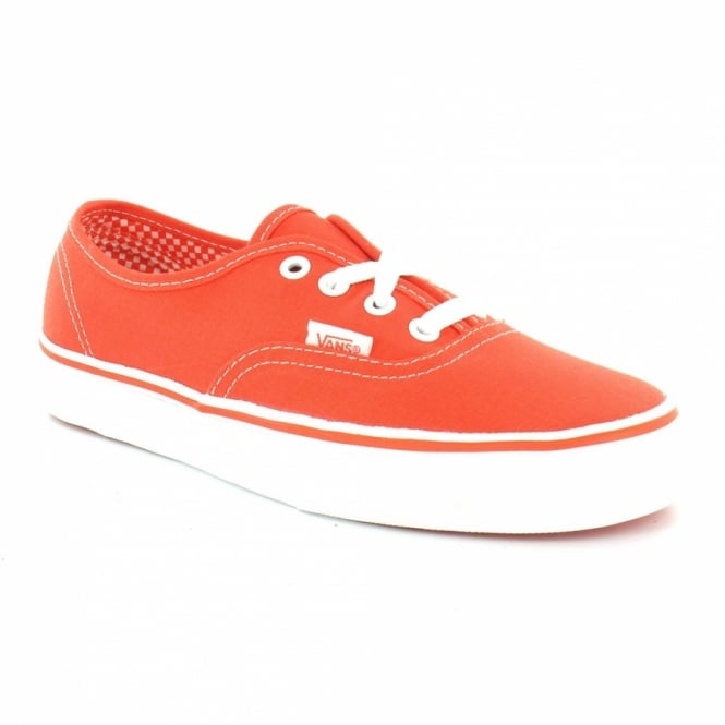 b2336447b1 Vans Authentic Womens Canvas Lace-up Shoes - Red - Sports   Fashion ...
