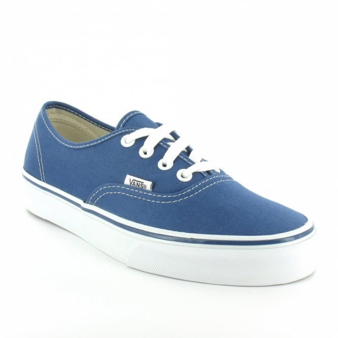 Buy Vans Authentic Womens 4-Eyelet Deck Shoes - Light Navy   White ... b2b10234d