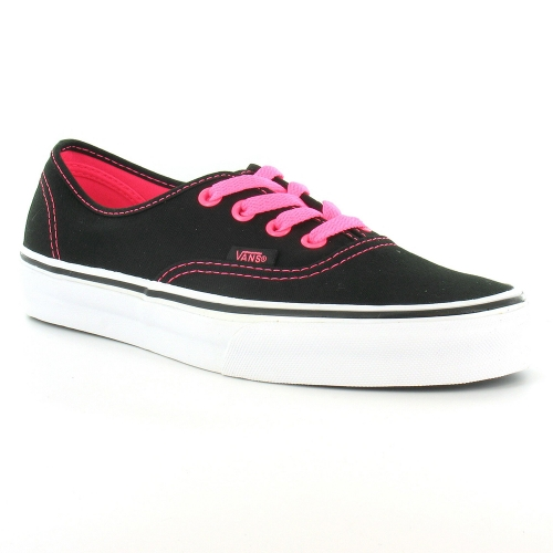vans authentic womens 4 eyelet deck shoes neon pink black