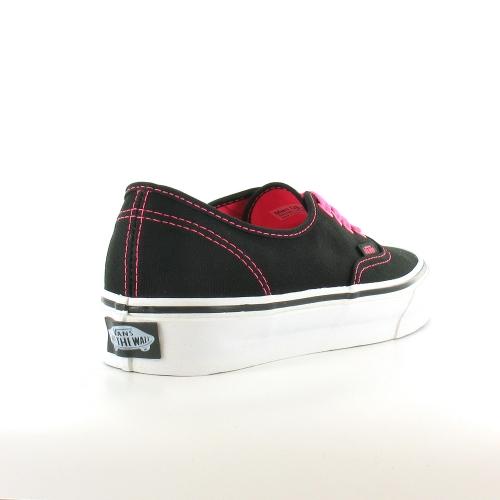vans authentic womens 4 eyelet deck shoes neon pink black