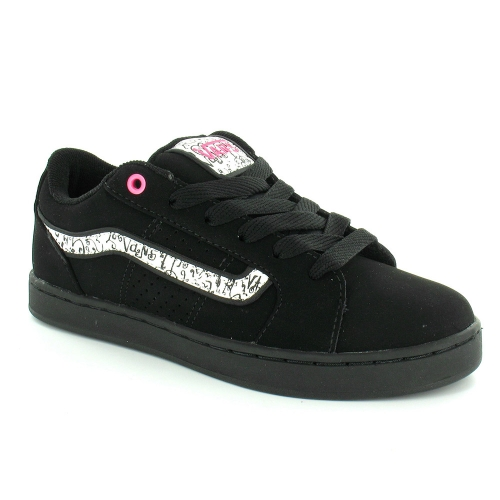 vans darla swirly vans womens skate trainer shoes black