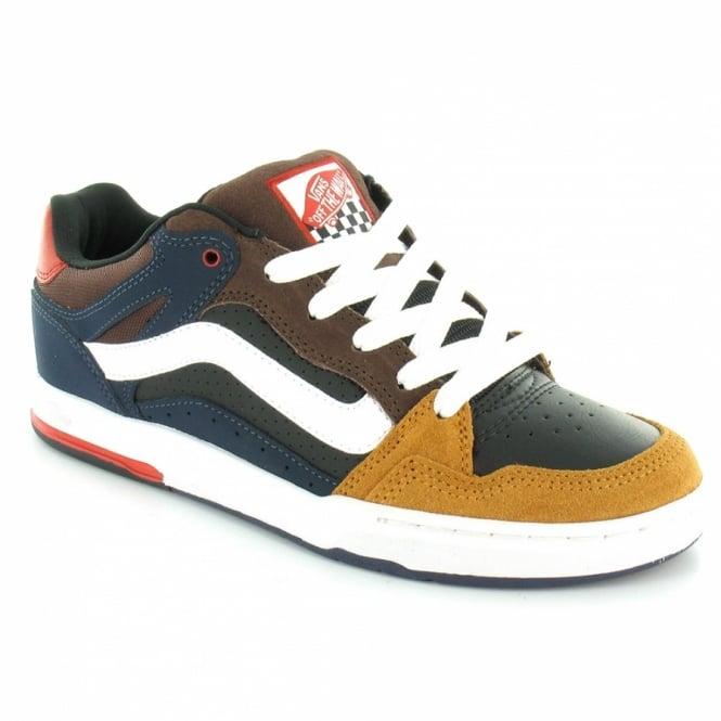 96984fb7d8 Vans Desurgent Mens Leather Skate Shoes - Black Blue Brown