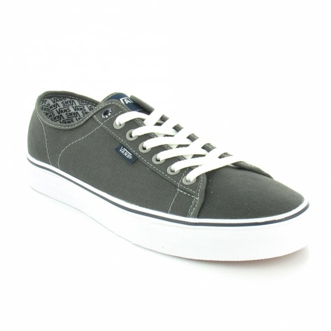 8dc2baf615 Vans Ferris 98NYO9 Mens Canvas 7-Eyelet Long Lace-Up Shoes - Charcoal Grey