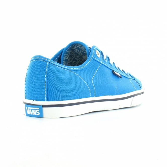e41161bd3278d8 Vans Ferris Lo Pro Womens Canvas Lace Up Shoes - Blue White