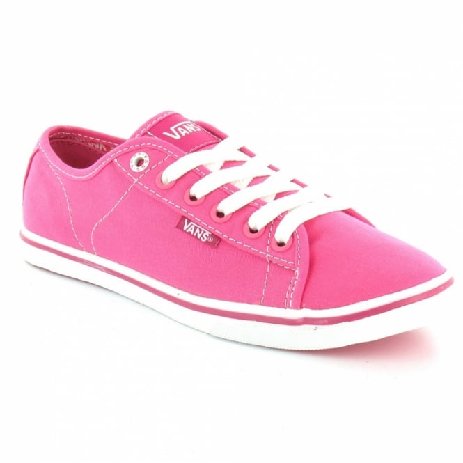 539359f88293e3 Vans Ferris Lo Pro Womens Canvas Lace Up Shoes - Pink White