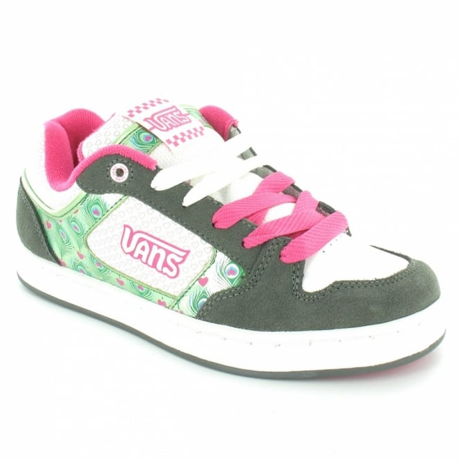 b79eaf3d022 Vans Mindi Womens Skate Trainer Shoes - Grey+Green