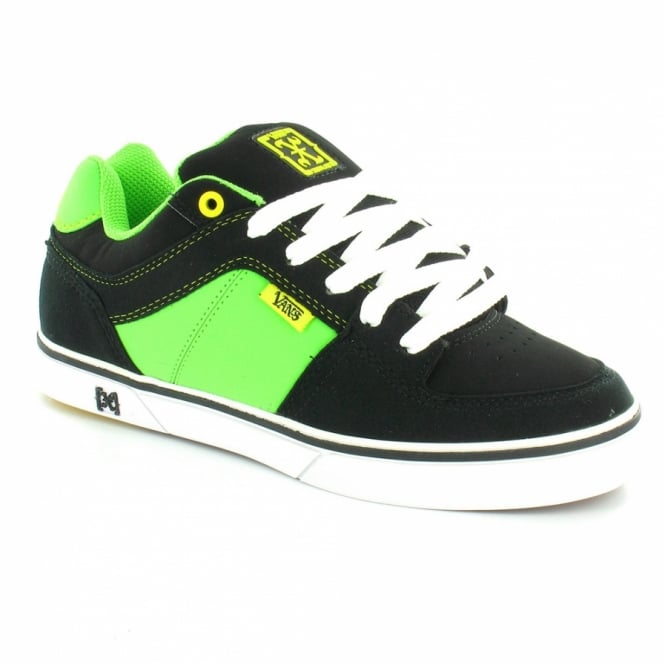 b9d8fc4c8b4 Vans Rowley X Mens Skate Shoes - Black+Neon Green