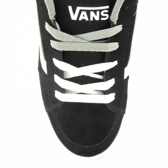 9e7fc56cfaef95 Vans Skink Mens 6-Eyelet Leather Skate Shoes - Black