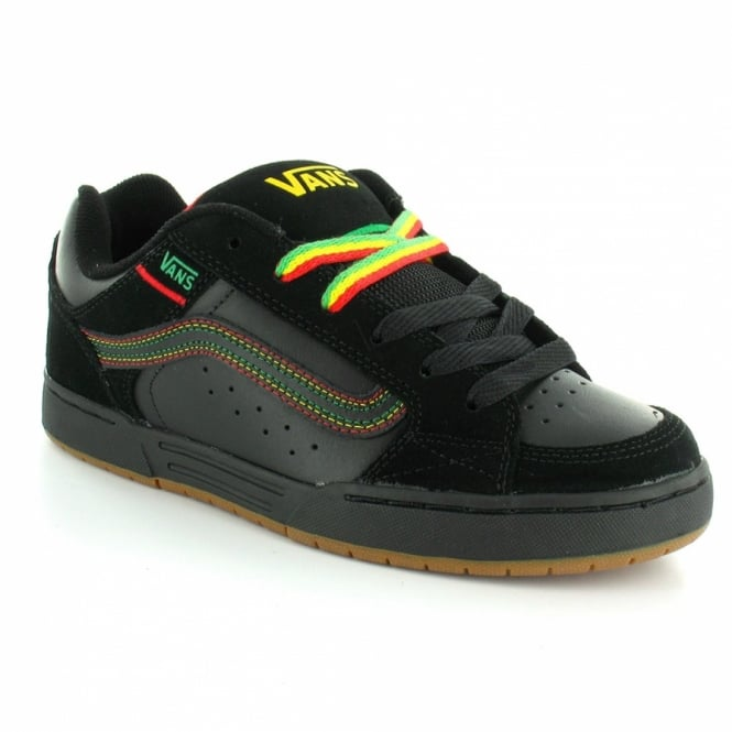 Vans Skink Rasta Mens Leather Skate Shoes - Black 49db6982f