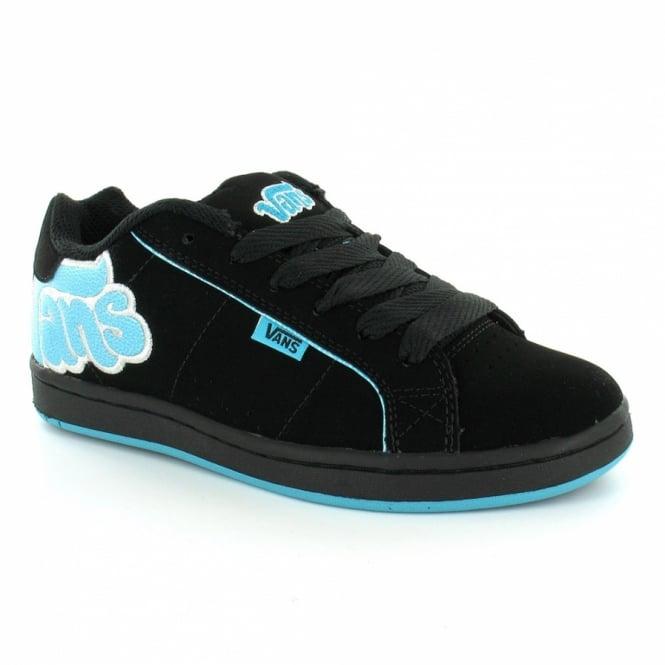 ecaa9c9f18 Vans Western Womens Leather Skate Shoes - (Bubble Vans) Black