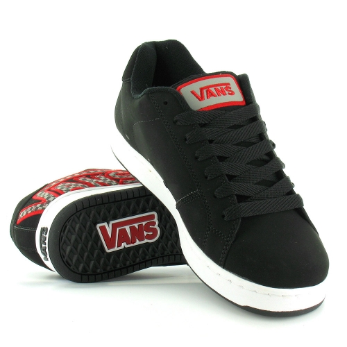 44a89ff5fe Vans Widow Checker Mens Suede Leather Skate Shoes - Black White