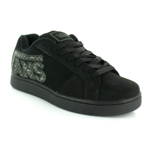 vans widow checker mens suede leather skate shoes black