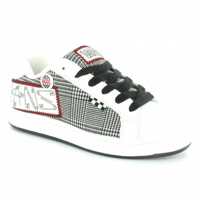 590431fc02e5 Vans Widow Plus Punk Pins Womens Skate Trainer Shoes - White + Black