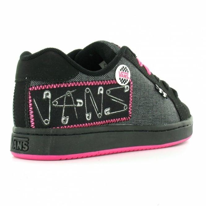 ec0dca0d7889 Vans Widow Plus Punk Pins Womens Skate Trainer Shoes - Black+Pink