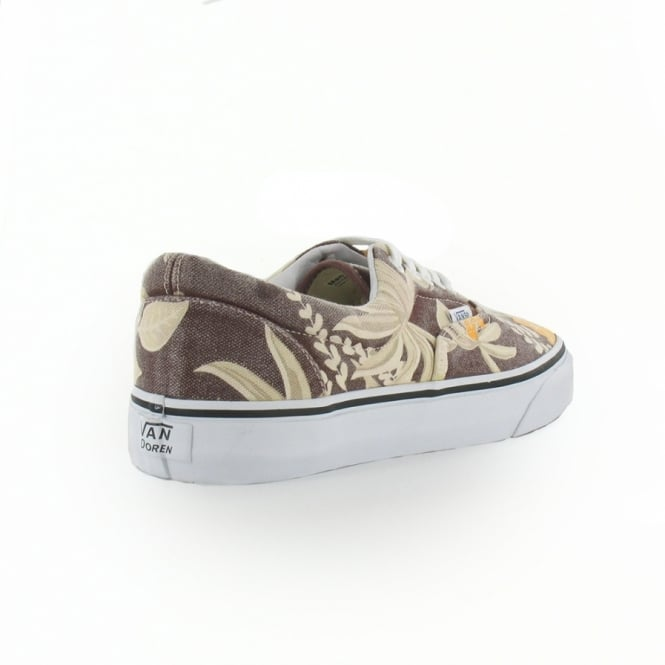 321c8f13517b5d Vans Van Doren Era VN-0 QFK6G8 Unisex 5-Eyelet Hawaiian Print Canvas Shoes  - Maroon Brown