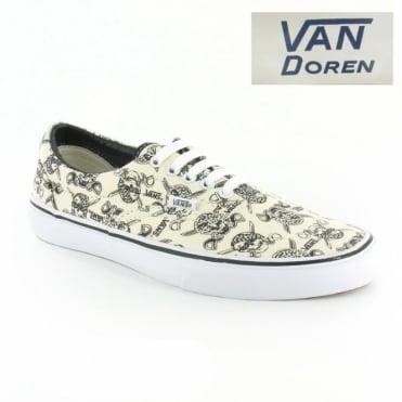 fd5b036f51 Vans Van Doren Era VN-0 VQFK6GB Unisex 5-Eyelet Skull Print Canvas Shoes