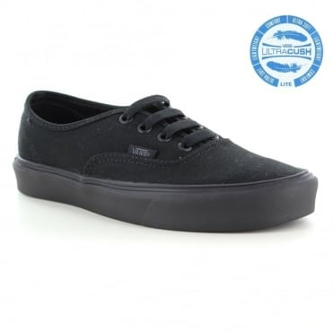Vans Authentic Lite VN0004OQ186 Unisex 4-Eyelet Trainer Shoes - Black